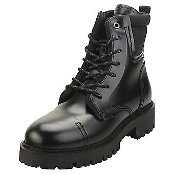 Tommy Jeans Fashion Pop Color Womens Casual Boots in Black