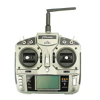 2.4GHz 6CH Transmitter Suitable for glider/helicopter Silver