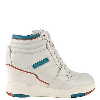 Ash BLADE Wedge Trainers Off White Leather