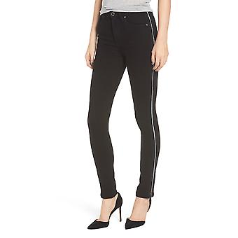 Hudson | Holly Black Luxe High-Rise Crop Skinny Jeans