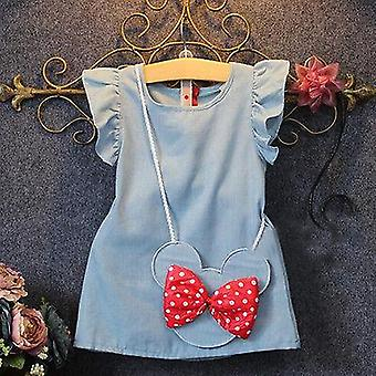 Baby Summer Cotton Cartoon Long Sleeves Dress,'s Princess Dresses Casual