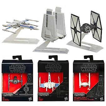 3-Pack Star Wars The Black Series Titanium Metal Spaceship No.02/03/13