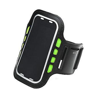 Led Sport Active Biking Glow Night Safety Armband Band Black