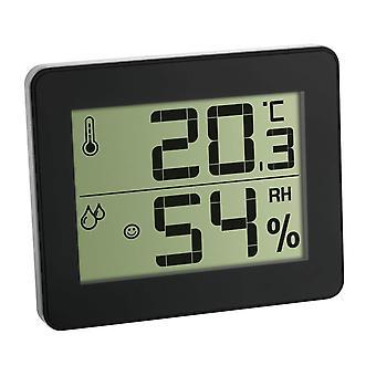 Digital Thermo-Hygrometer (slim gloss black)