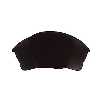 Replacement Lenses for Oakley Half Jacket XLJ Sunglasses Anti-Scratch Dark Black