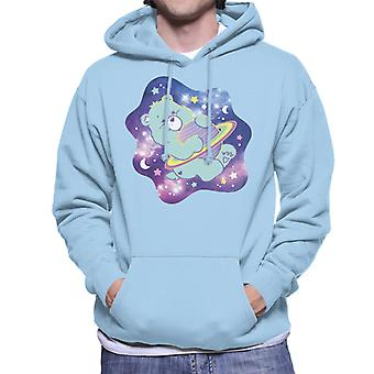 Care Bears Bedtime Bear drömmer om rymdmän's Hooded Sweatshirt