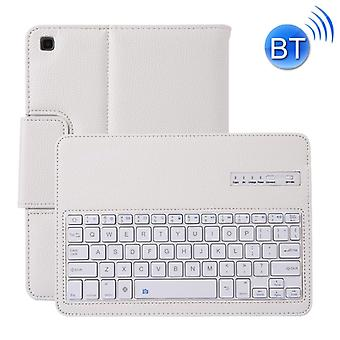 SA720 Detachable Bluetooth Keyboard + Litchi Texture PU Leather Protective Cover with Holder for Galaxy Tab S5e 10.5 T720/T725 (White)
