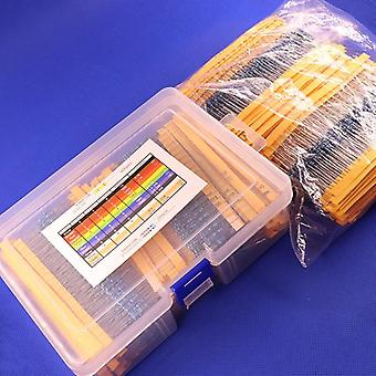 Metal Film Resistors Assorted Pack Kit Set, Assortment Kits Fixed Capacitors
