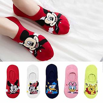 Summer Casual Cute Animal Cartoon Mouse Duck Invisible Socks