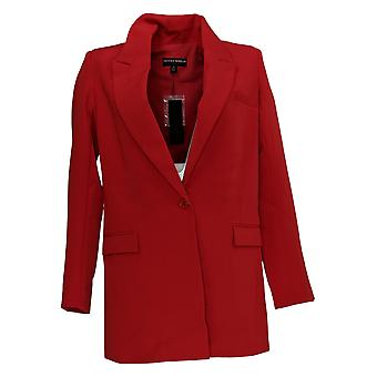 BROOKE SHIELDS Timeless Women's Woven Blazer Red A342021