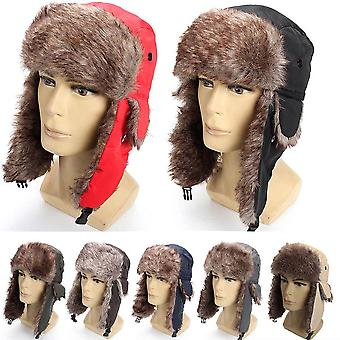 Winter Hut halten warm Unisex Winter Trapper Aviator Trooper Earflap, Ski Hut &