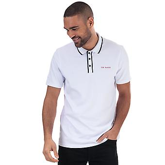 Heren's Ted Baker Bunka Polo Shirt in Wit