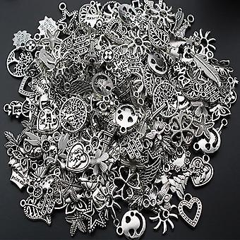 Tibetanska Silver Blandade Styles Leaf Heart Key Crown Charms Hängen