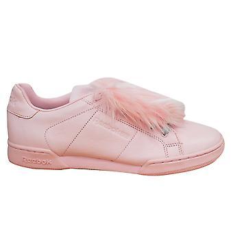 Reebok Npc II Ne Local Heroes Womens Trainers Lace Up Shoes Pink BD4455 U42