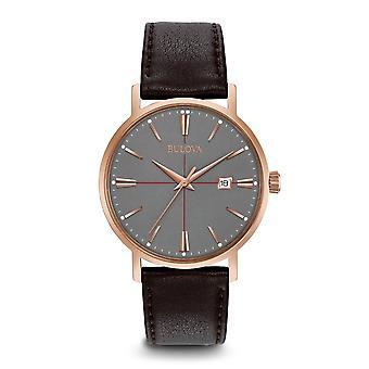 Bulova 97B154 Männer's klassische graue Zifferblatt Armbanduhr