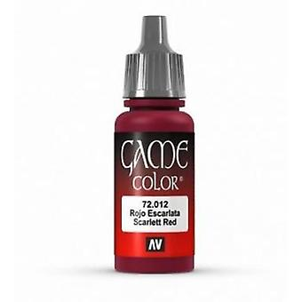 Vallejo Game Color 17ml Acrylic Paint 12 Scar red