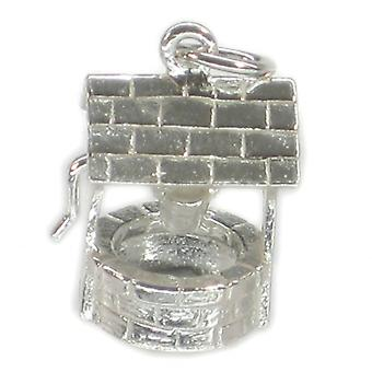 Wishing Well Sterling Silver Charm .925 X 1 Wish And Wishes Charms - 176