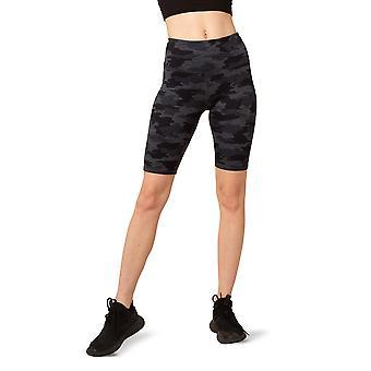 Women's High-Waist Ultra-Soft Moss Jersey Short with Hidden Key Pocket and 9-Inch Inseam