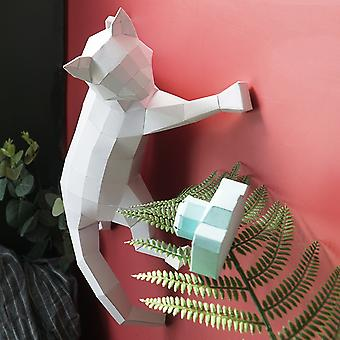 3d Stereo Diy Wall Decoration Handmade Creative Wall Hanging Paper Cat Model