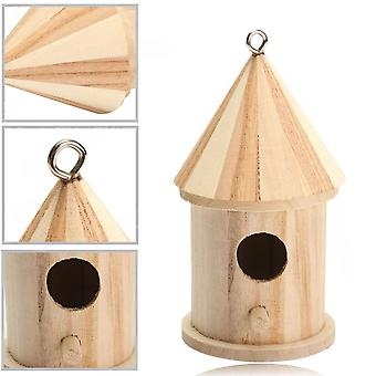 Wood Carving Wooden Birdhouse Bird Nest House Shed Garden