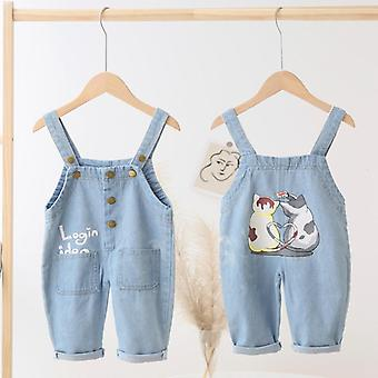 Toddler Overalls, Infant Denim Dungarees, Baby Soft Jeans Jumpsuit