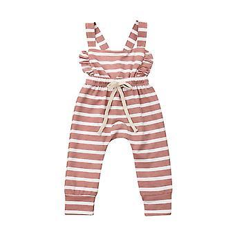 Yenidoğan Çocuk Bebek Ruffle Önlük Pantolon, Romper / tulum / tulum