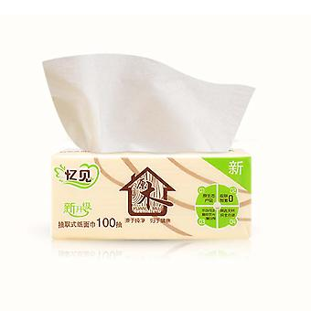 Wood Pulp Bamboo Facial Tissue