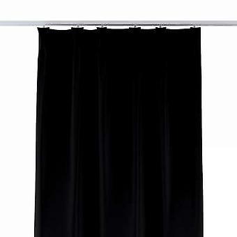 Gordijn met Vlaamse plooien, zwart, 70x280cm, verduistering (verduistering), 269-99