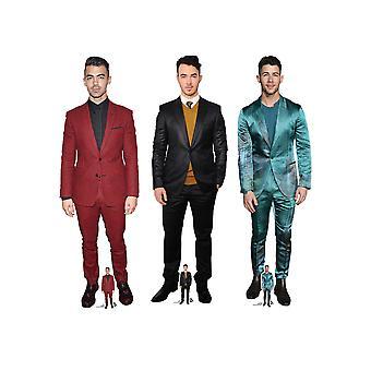 Nick, Joe et Kevin Jonas Singers Lifesize Cardboard Cutout Collection de 3