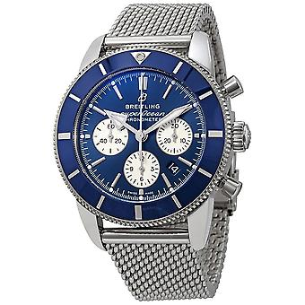 Breitling Superocean Heritage II Chronograph Automatic Chronometer Blue Dial Men's Watch AB0162161C1A1