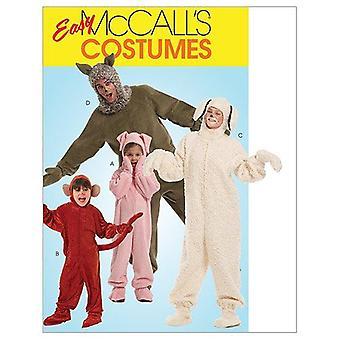 McCalls أنماط الخياطة 5956 رجال يفتقد الحيوانات ازياء حجم S-XL