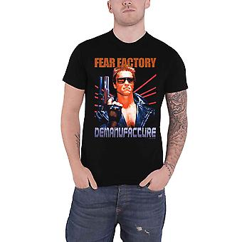 Fear Factory T Shirt Terminator Band Logo new Official Mens Black