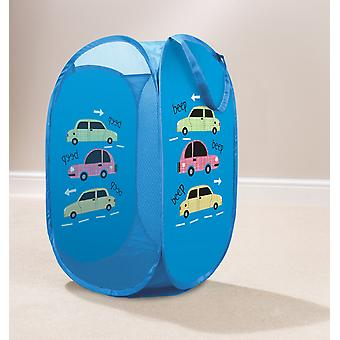 Country Club Kids Pop Up Laundry Basket, Cars