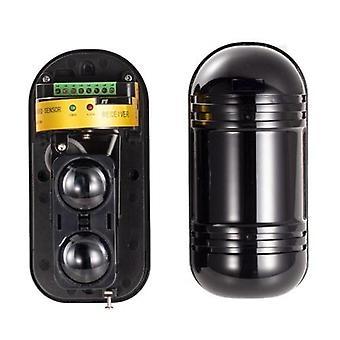 Deal 100M Dual Beam Sensor Aktiv infrarød indtrængen Detektor Home Perimeter infrarød alarm regn og tåge resistente, støv og insekter resistente, al slags vejr integreret struktur.