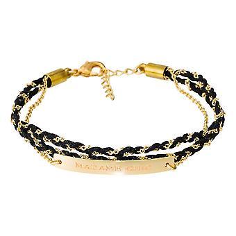 ' MME CHIC' Armband mit Goldener Kette mit Nachricht