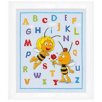 Vervaco Counted Cross Stitch Kit: ABC with Maya & Willy