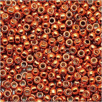 توهو جولة البذور الخرز 11/0 #PF562 - دائم الانتهاء من الزعفران المجلفن (8g)