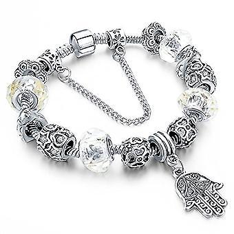 Beads bracelet hand bracelet of Fatima, Hamsa, plated bracelet jewelry, ideal as a gift, Autiga, metal base, Ref. 4058433097247
