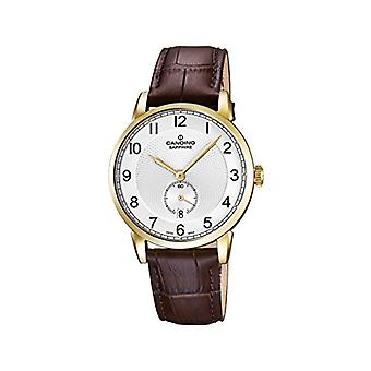 Quartz men's watch with analog display and leather strap, color: brown, 1 C4592