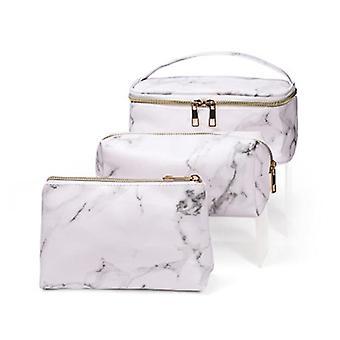 3 pezzi di sacchetto impermeabile in marmo bianco (21 cm* 16 cm * 9 cm) (19 cm * 7 cm * 9 cm) (19 cm * 7 cm * 12 cm)