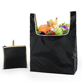 Uusi naisten ostoskassi uudelleenkäytettävä päivittäistavarakaupan tote käsilaukku musta ES9210