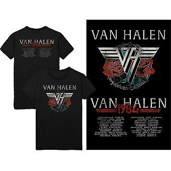Van Halen - 84 Tour Unisex Medium T-paita - Musta