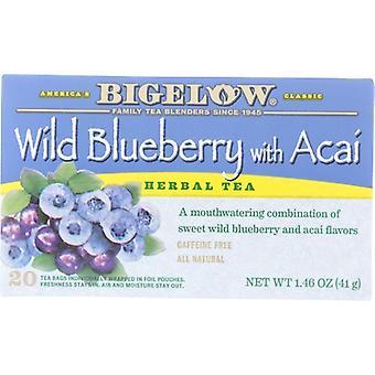 Bigelow Tea Wld Blbry Acai 20Bg, Case of 6 X 1.46 Oz