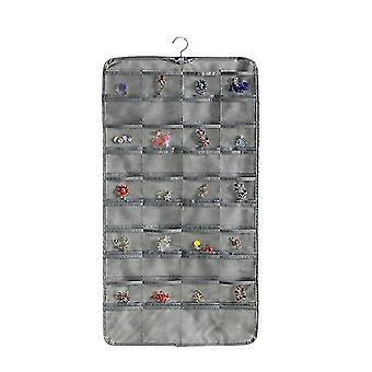 Hanging Jewelry Organizer,80 Pocket Organizer For Holding Jewelries(Gray)