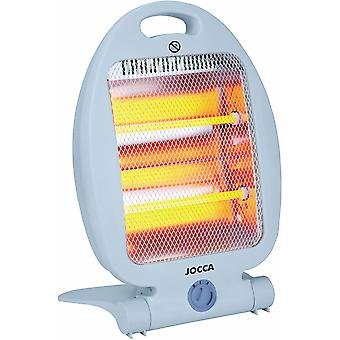 Jocca White Halogen Medium Heater with 2 Power Stages and Frontal Safety Grille