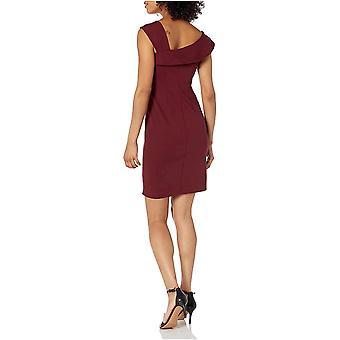 Lark & Ro Mujeres's vestido de escote de cuello asimétrico, vino profundo, 4