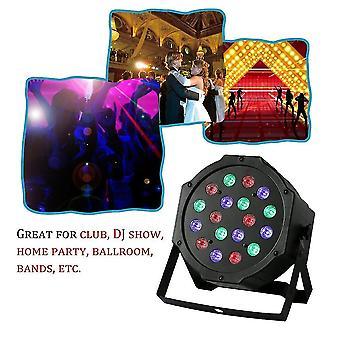18w 18w Rgb Misturando cores Palco Luz 6 Canal Festa de Casamento Dj Club Light