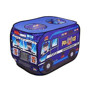 Creative Kids's Car Game House Simulação Polícia Carro Corpo de Bombeiros Tenda Dobrável Tenda Interior