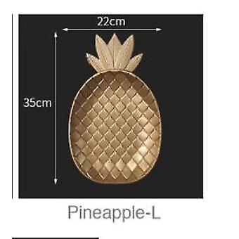 Nordic Decorative Tray Gold Pineapple Shape Serving Tray Jewelry Pallet |Storage Trays(Pineapple-L)