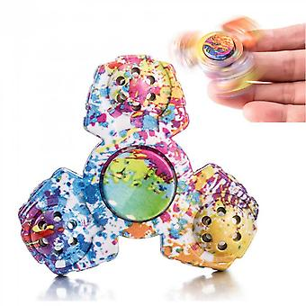 Camo Tri Wings Hand Spinner Finger Toy For Adhd Focus Relieves Anxiety